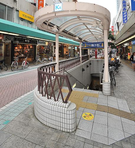 静岡駅地下K8出口をでて、まっすぐ歩きます。